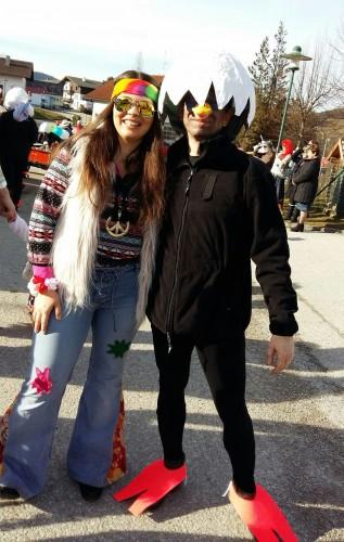 Fasching 2016 - Hippie und Huhn !?!